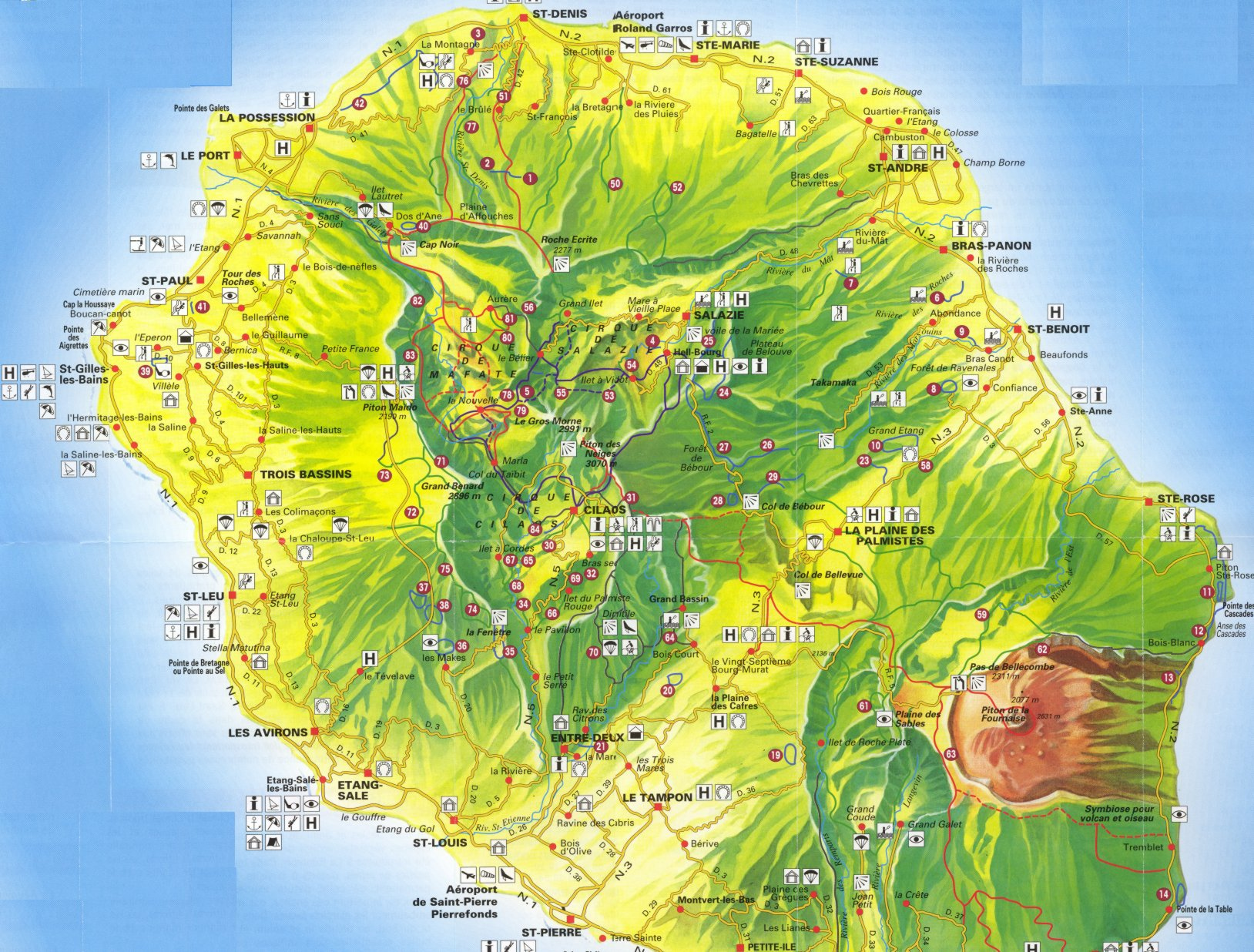Map of La Reunion